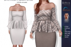LMC-Mesh-Peplum-Dress